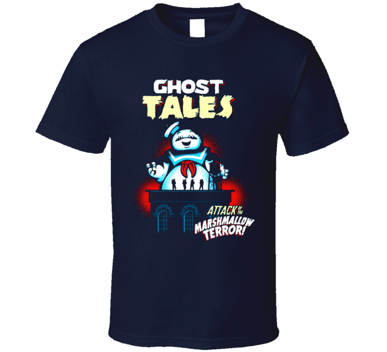 Ghost Tales Marshmallow Attack Retro T Shirt