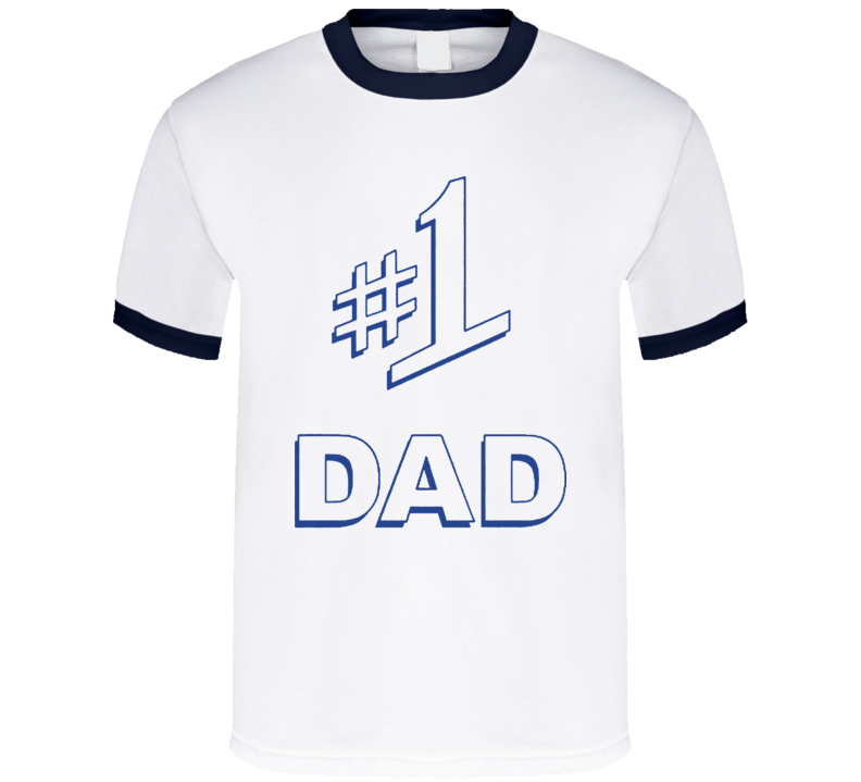 Number One Dad Gift Fathers Day T Shirt