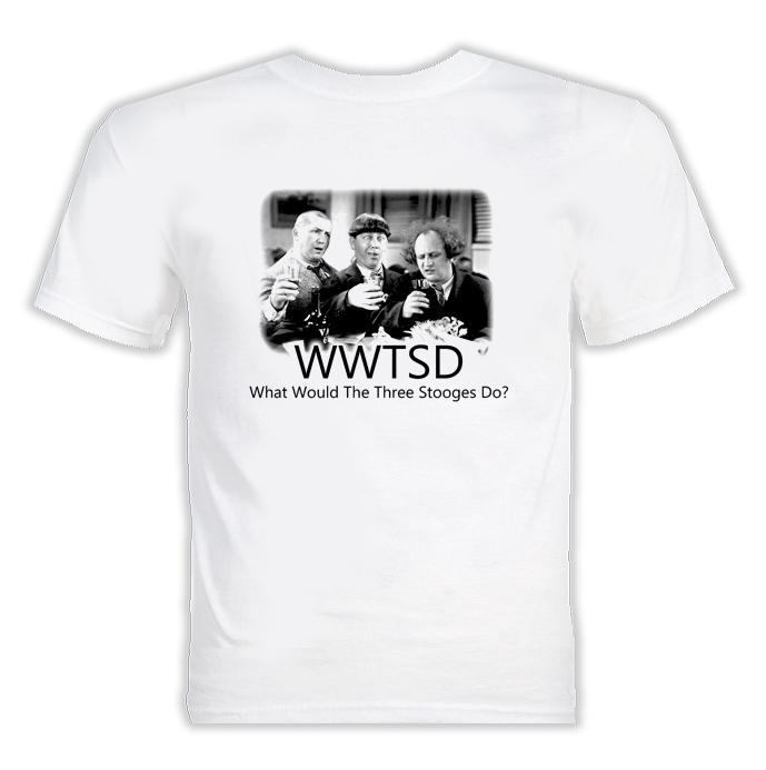WWJD Three Stooges Funny T Shirt