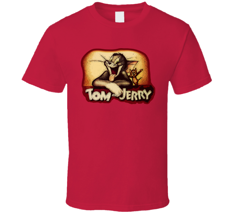 Tom and Jerry Cartoon Retro T Shirt