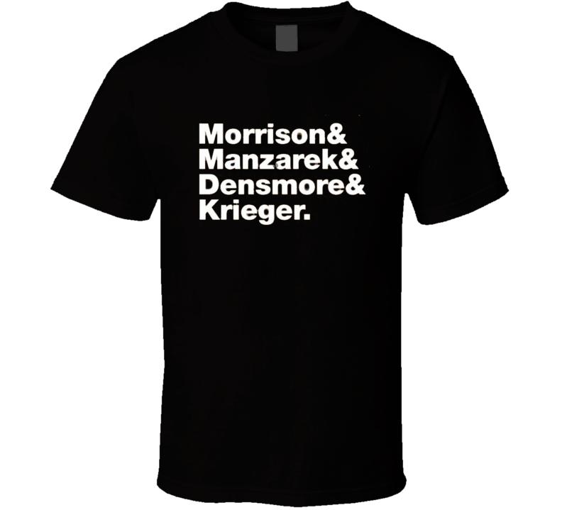 Morrison & Manzarek & Densmore & Krieger TShirt