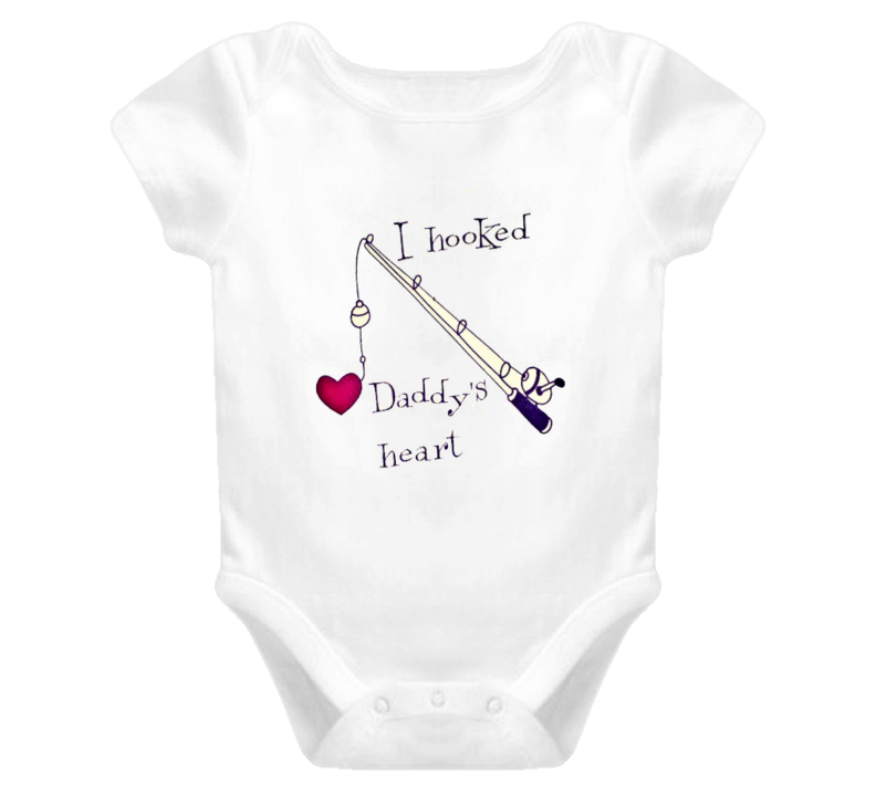 I Hooked Daddy's Heart Onesie T Shirt