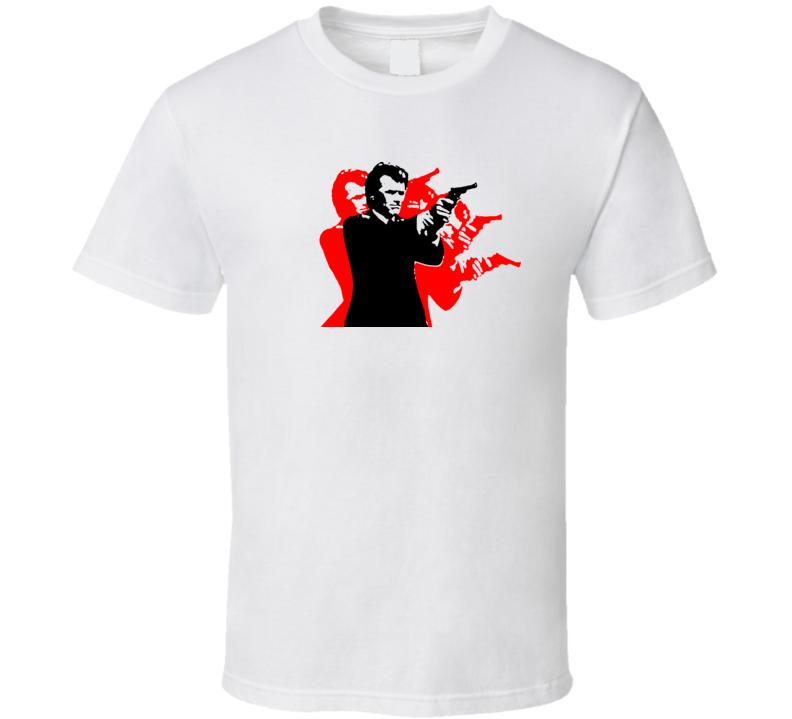 Dirty Harry Warhol Style Movie Retro T Shirt