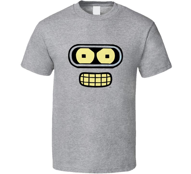 Futurama Bender Face Classic Tv Show T Shirt