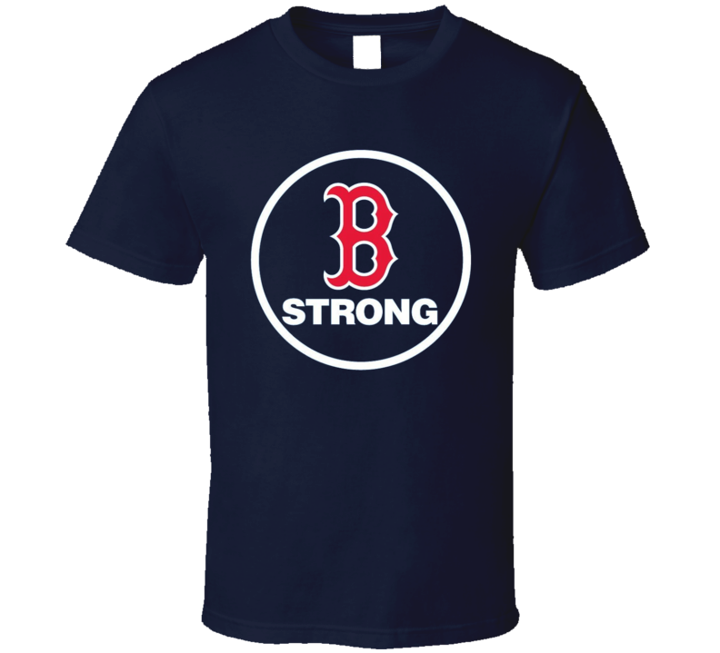 Boston Strong Red Sox Marathon Tribute Fundraiser Baseball T Shirt