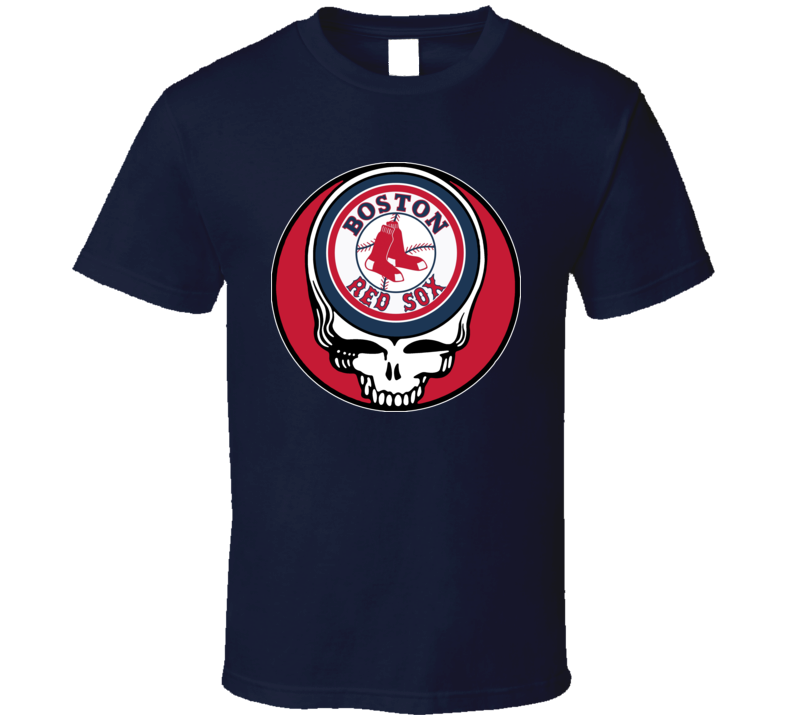 Steal Your Face Boston Grateful Red Sox Dead Stealie Lot Badeball T Shirt