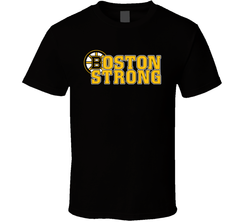 Boston Strong Bruins Hockey Marathon Salute T Shirt