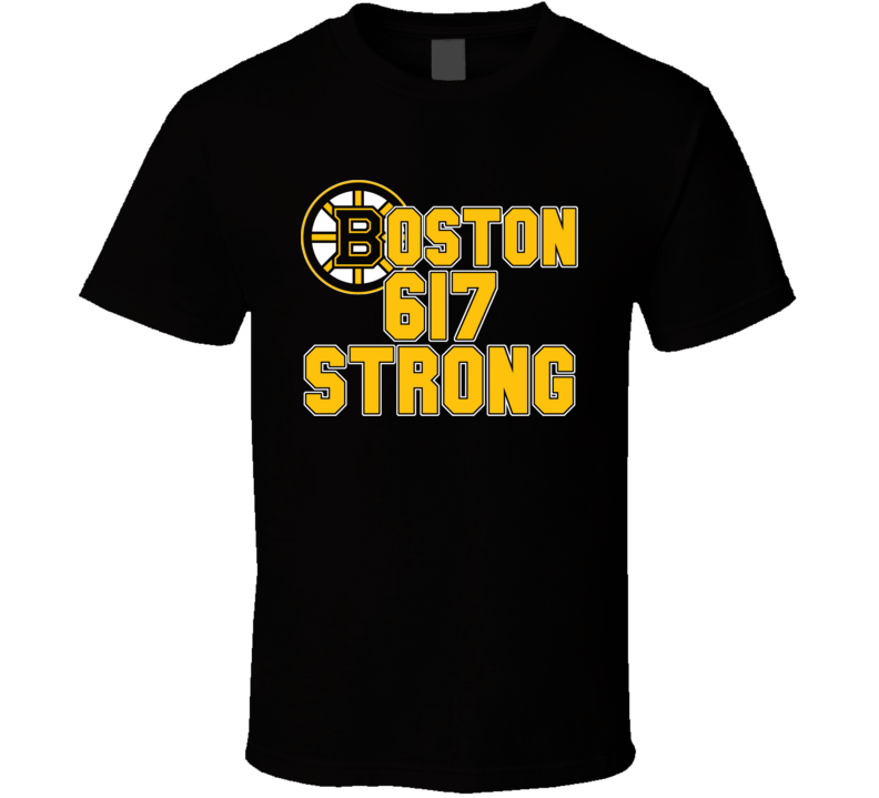 Boston 617 Strong Bruins Marathon Tribute Hockey T Shirt