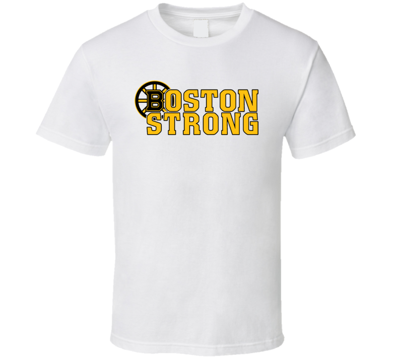 Boston Strong Hockey Marathon Salute White Playoff T Shirt