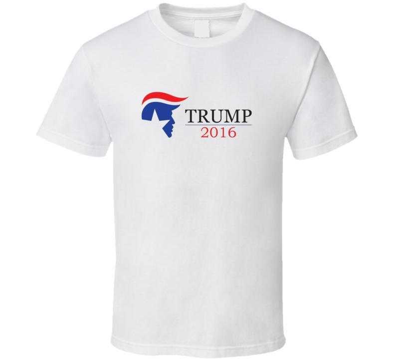 Donald Trump Campaign Hair Presidential White 2016 T Shirt