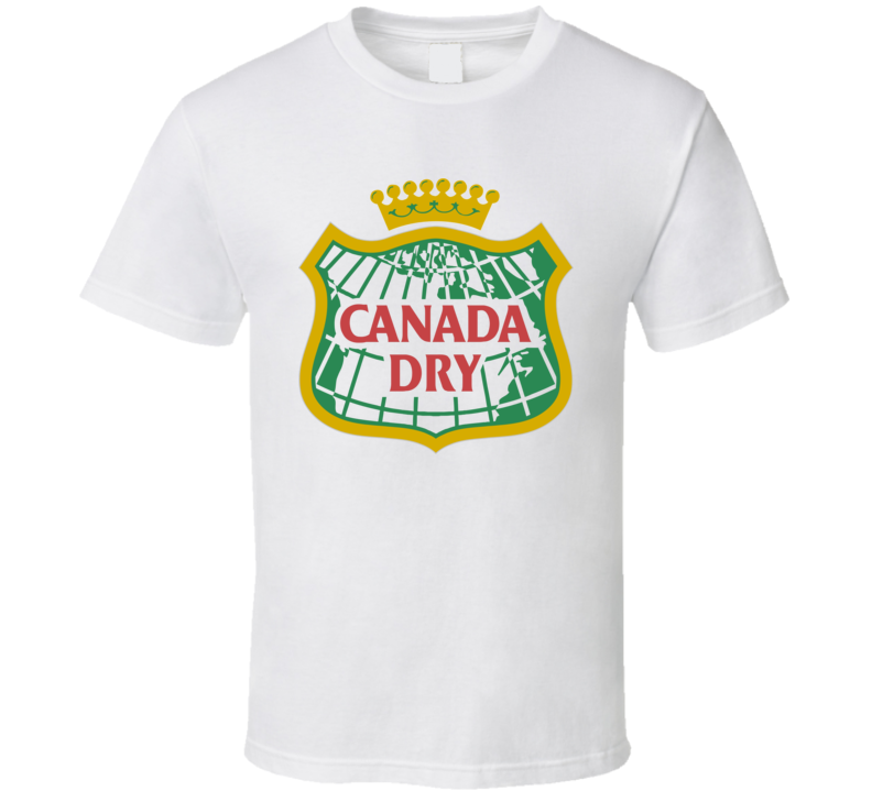 Canada Dry Gingerale soft Drink Pop T Shirt All Sizes Whote