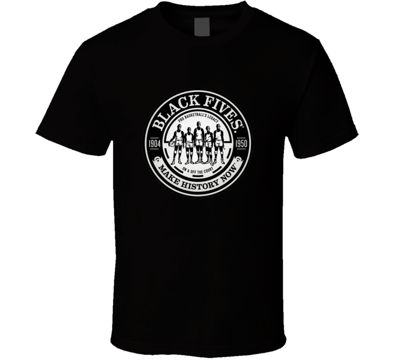 Negro Basketball League Black Fives Team Logo T Shirt