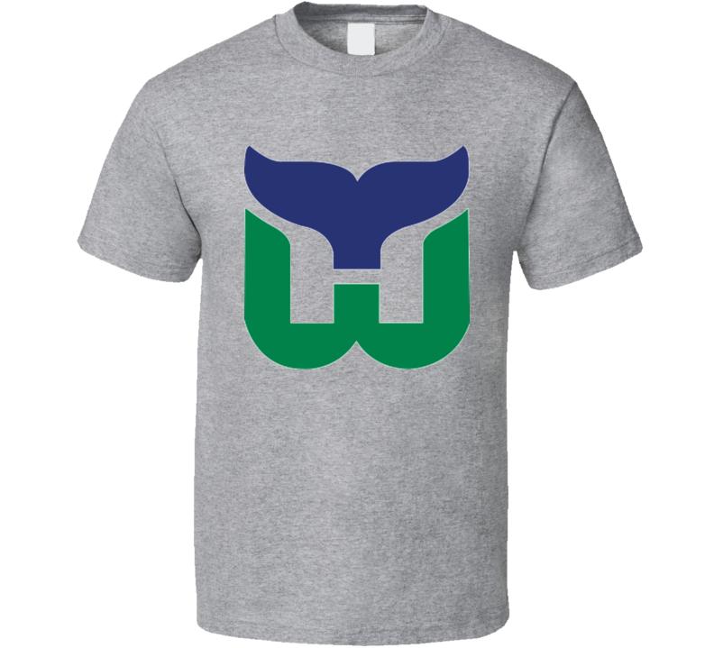 Hartford Whalers Defunct Retro Vintage Hockey T Shirt