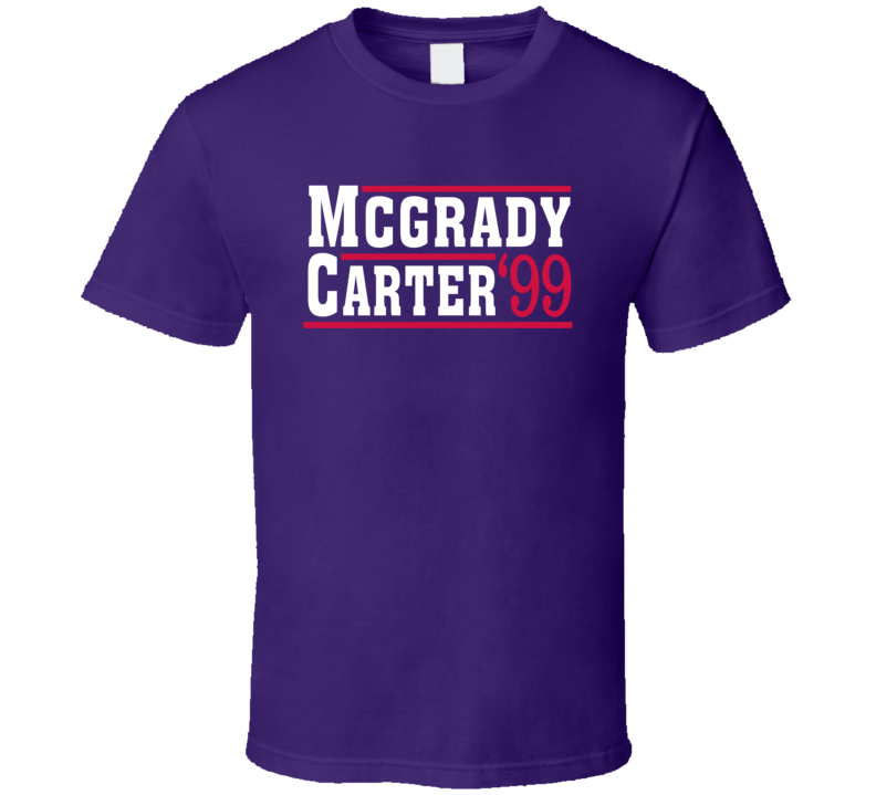 Tracy Mcgrady Vince Carter 1999 Toronto Campaign Basketball T Shirt