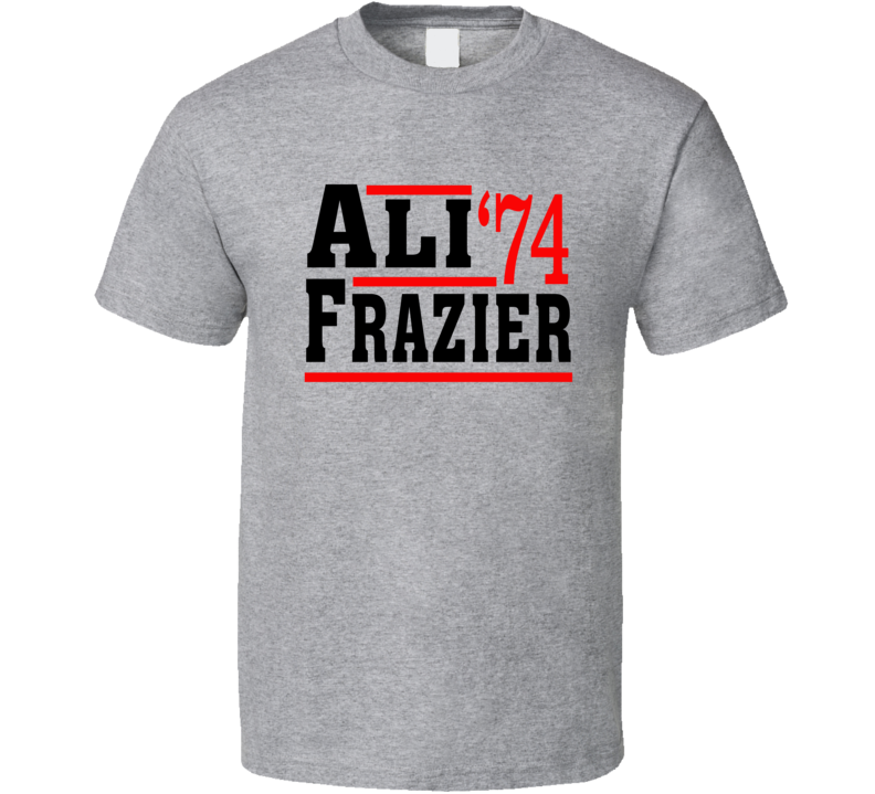 Ali Frazier 1974 Election Style Boxing Fight Fan T Shirt