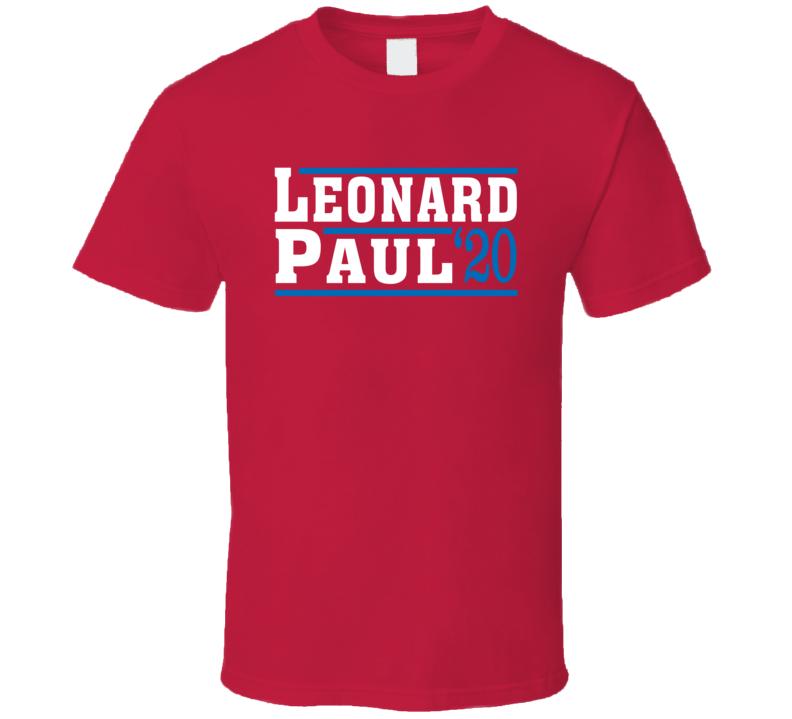 Kawhi Leonard Paul George 2020 Election Style Los Angeles Basketball Sports Fan T Shirt