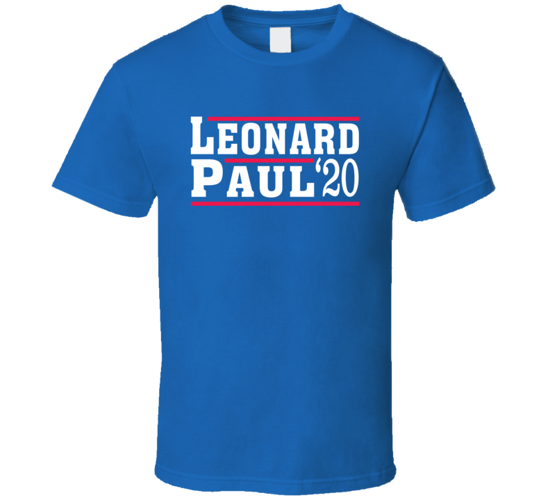 Kawhi Leonard Paul George 2020 Election Style Los Angeles Basketball T Shirt