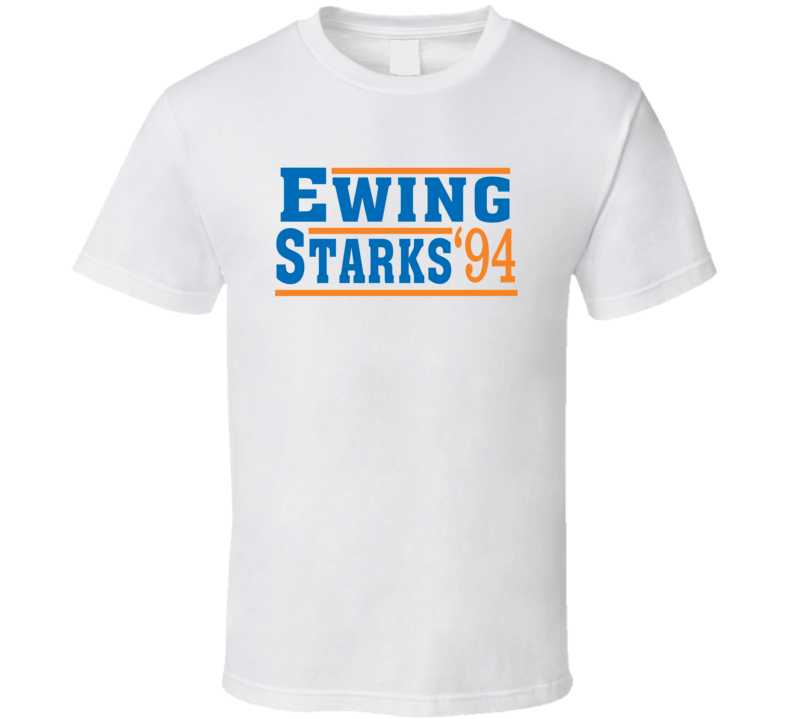 Ewing Starks 1994 Election Style New York Basketball Fan T Shirt