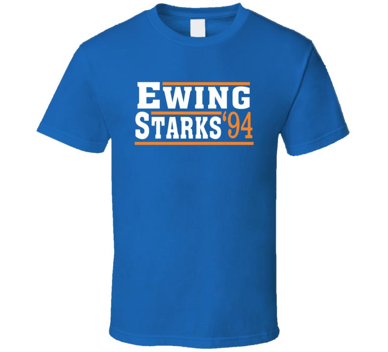 Ewing Starks 1994 Election Style New York Basketball T Shirt