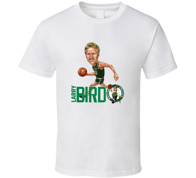 Larry Bird Retro Vintage Caricature Basketball T Shirt