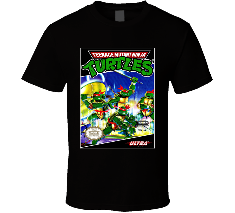 Turtles Nes Retro Video Game T Shirt