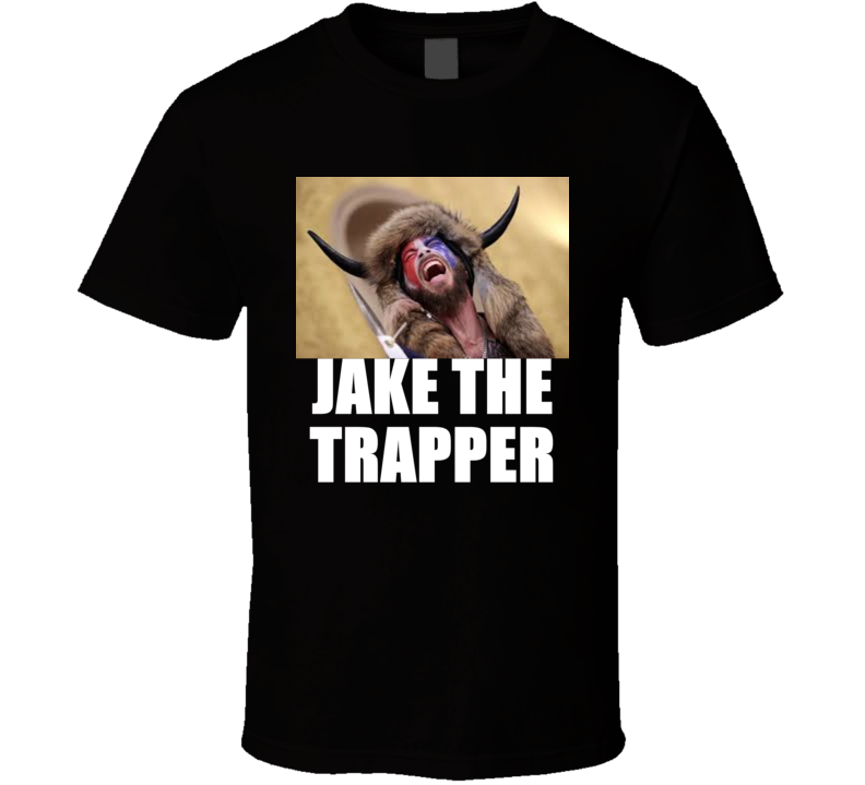 Jake Angel Trapperi Shirtless Horned Man Trump Maga Supporter T Shirt