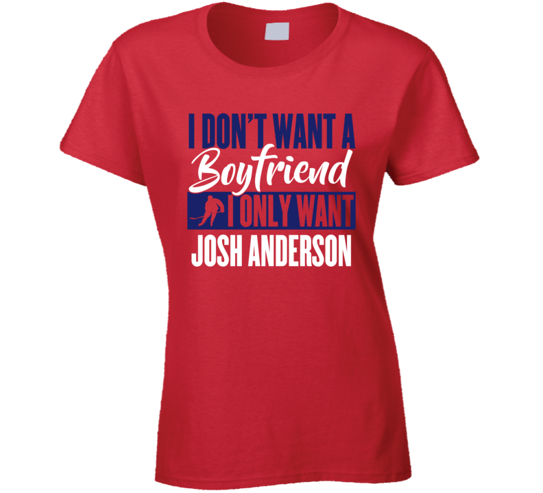 Josh Anderson Montreal Boyfriend Ladies Hockey Fan Ladies T Shirt