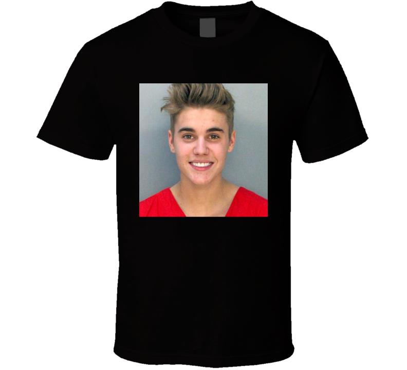Justin Mugshot Photo T Shirt