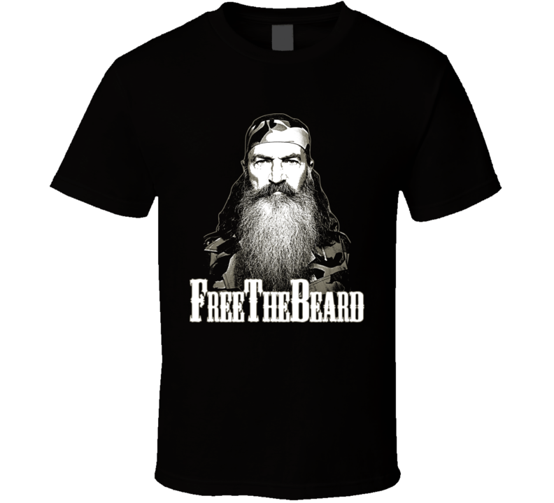 Free The Beard Phil Robertson Duck Suspended Happy T Shirt