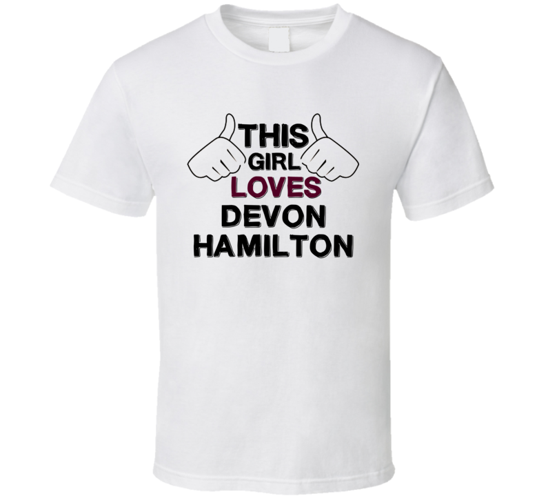 This Girl Loves Devon Hamilton The Young and the Restless Fan T Shirt