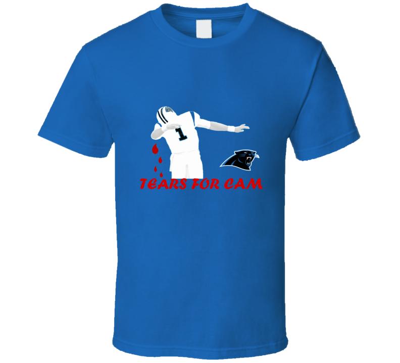Tears for Cam Newton superbowl 50 2016 carolina panthers lose to broncos T Shirt