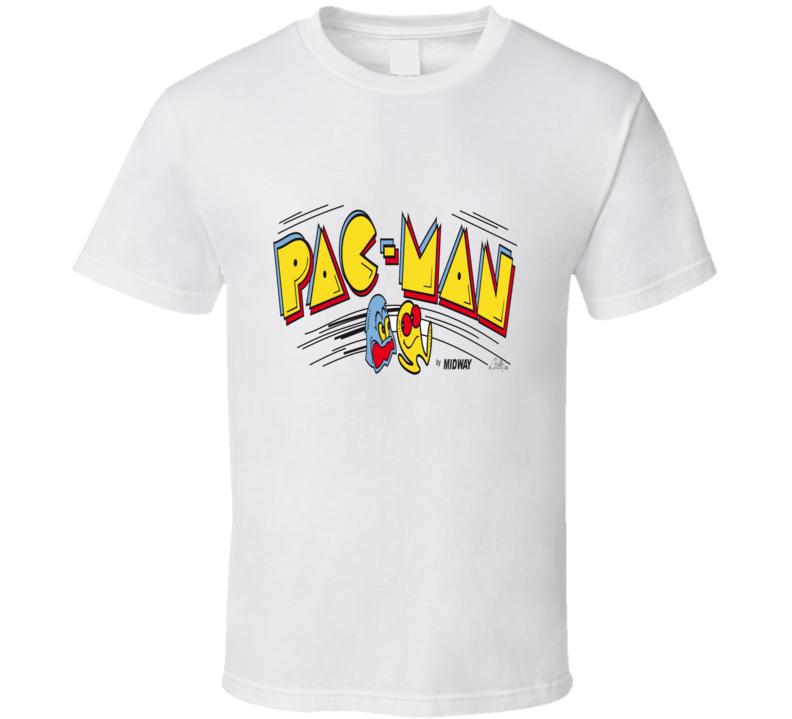 pac man arcade game logo graphic tshirt tees