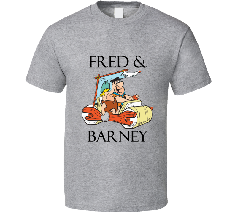 fred and barney The Flintstones T shirt Fred Flintstone and Barney Rubble tshirt