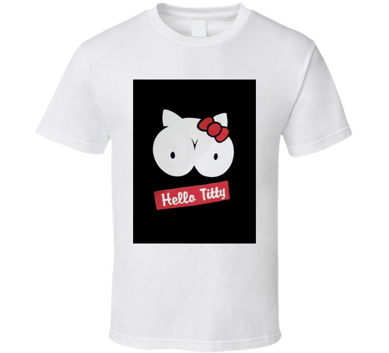 Hello Titty funny parody hello kitty tshirt