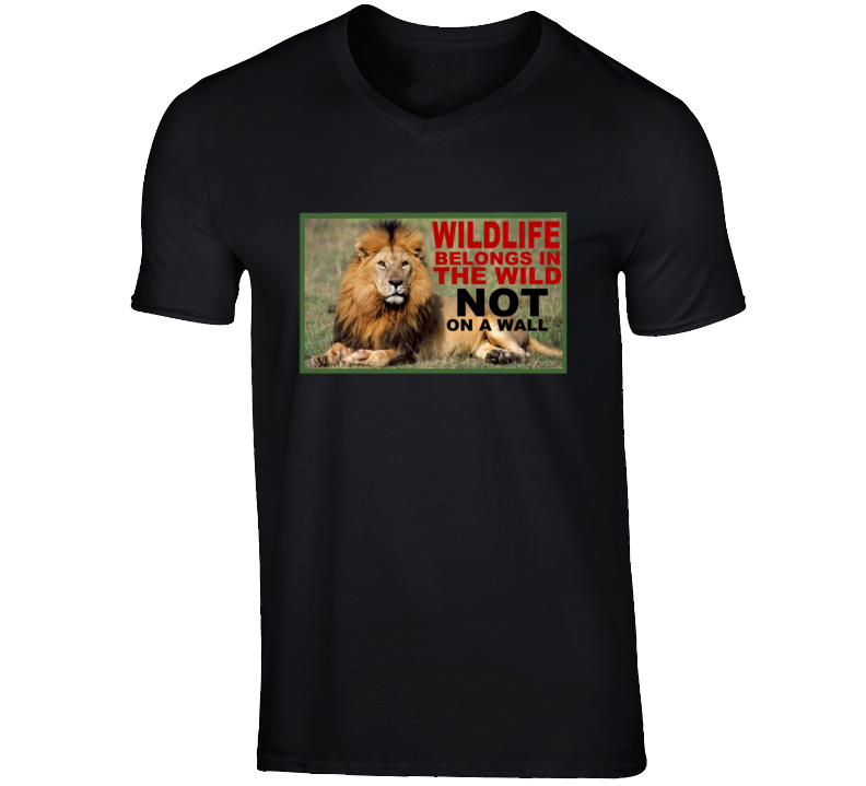 cecil 2016 rally wildlife belongs in the wild not on a wall tshirt stop trophy killing campaign tee