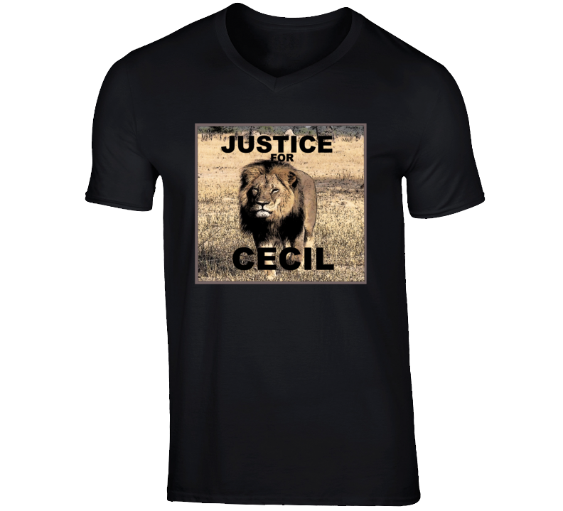 Cecil the lLion T Shirt Justice  for Cecil the Lion Tee