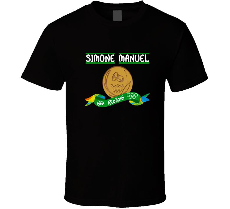 simone manuel olympic gold medal winner rio 2016 tshirt