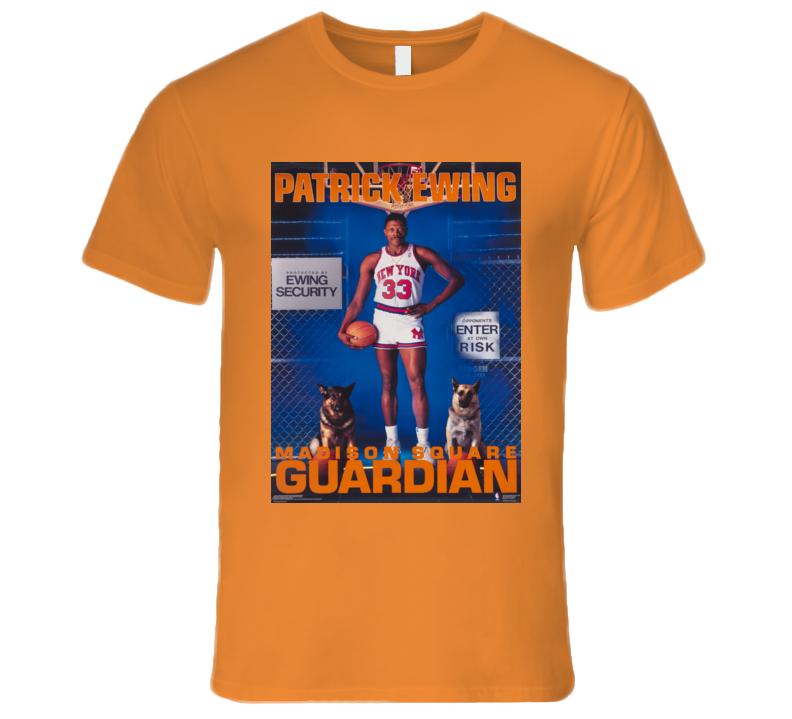 patrick ewing funny new york basketball madison square guardian T Shirt