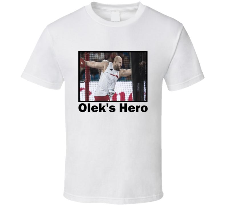piotr malachowski olek's hero tshirt piotr malachowski sliver medal winner rio olympics T shirt