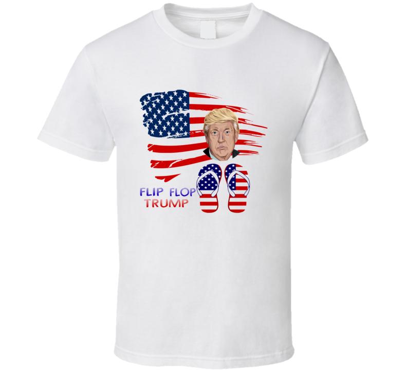 flip flop trump funny parody T Shirt
