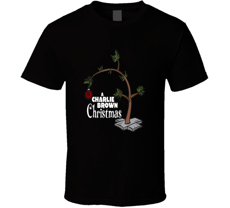 A Charlie Brown Christmas Tree Graphic T Shirt