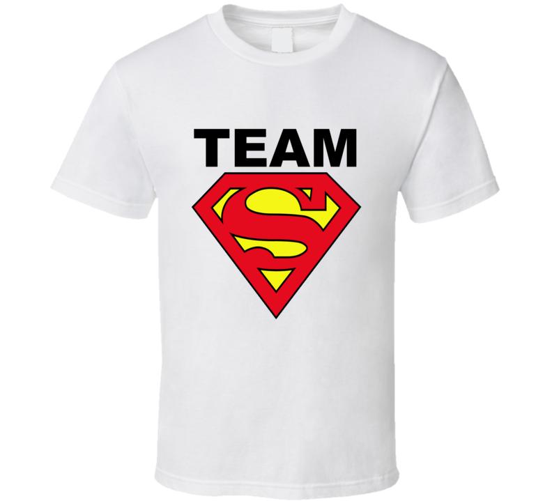 Team Superman Batman vs Superman Movie Graphic T Shirt