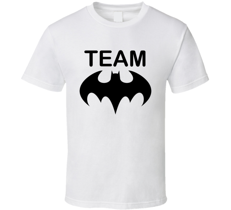 Team Batman Black and White Batman vs Superman movie Tshirt