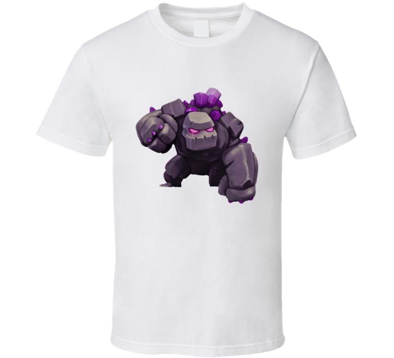 Clash of Clans App Game Golem Render T Shirt