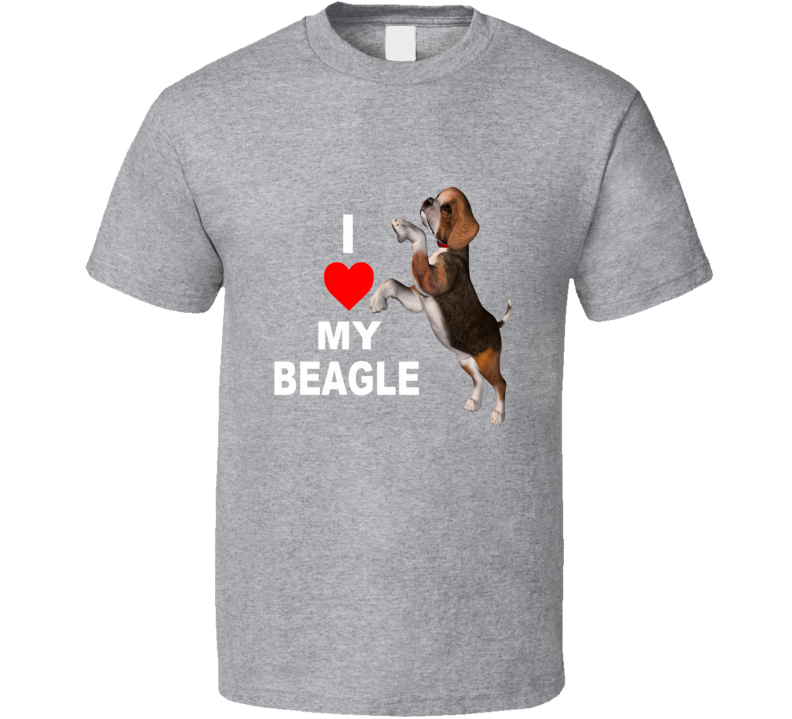 I Love My Beagle Dog Lover Graphic T Shirt