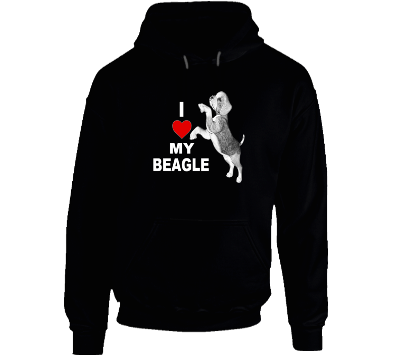 I Love My Beagle Dog Lover Unisex Hoodie