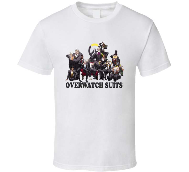 Overwatch Suits Male Character Fandom Tshirt
