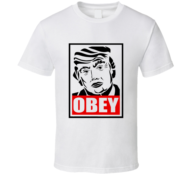 Donald Trump Obey Graphic Tshirt harpers magazine cover Donald trump obey T shirt