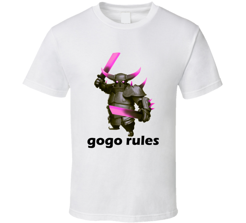 Clash of Clans PEKKA Gogo Rules App Game T Shirt