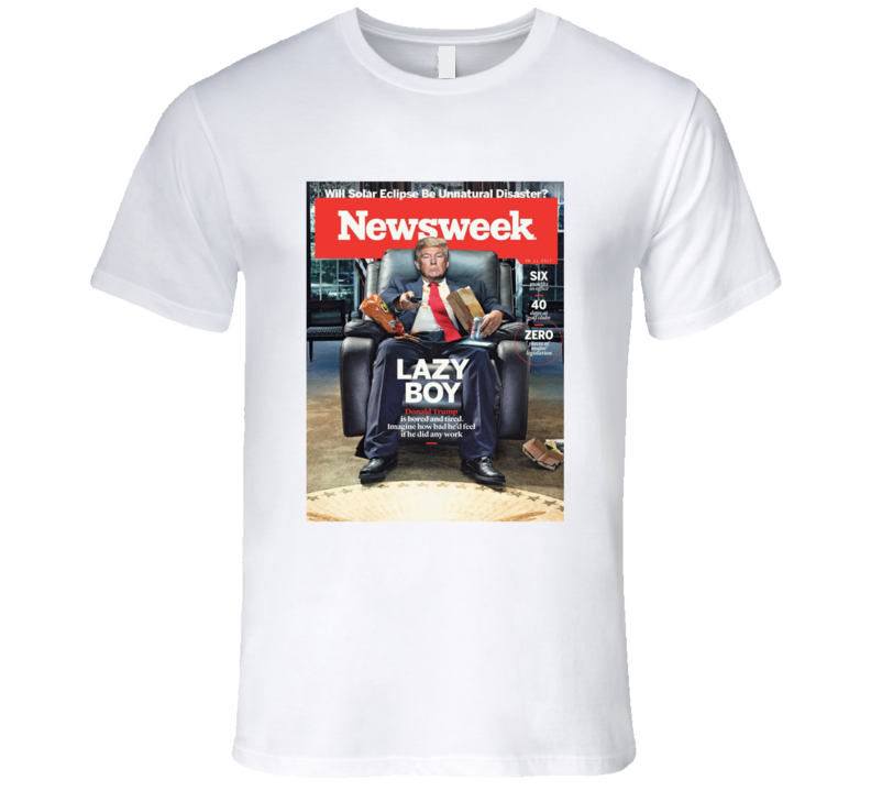 Newsweek Donald Trump Lazy Boy Graphic Tshirt